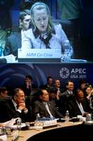 Secretary Clinton during APEC Ministerial  meeting